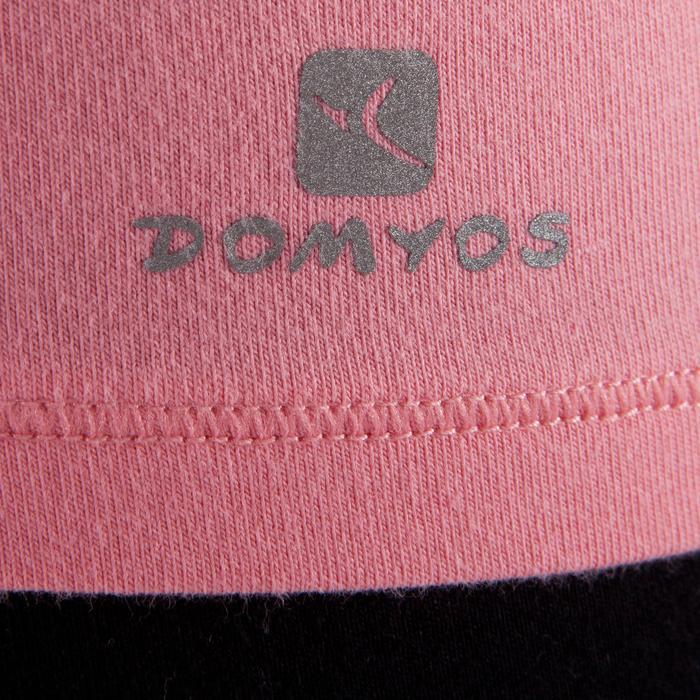 Yogashirt 100 met lange mouwen voor dames ECO koraal - 1285211