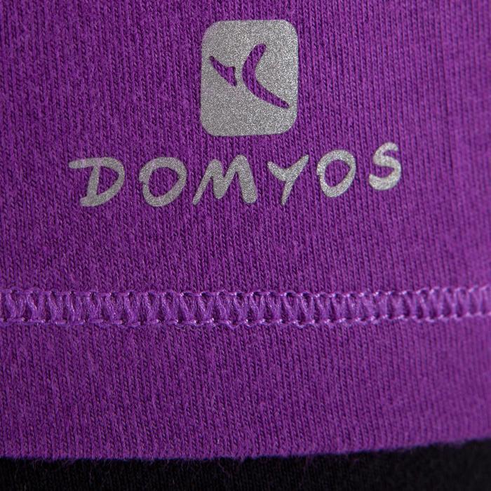 Yogashirt 100 met lange mouwen voor dames ECO paars - 1285217