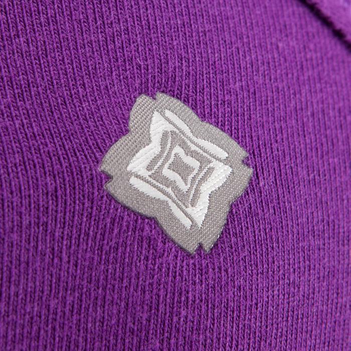 Yogashirt 100 met lange mouwen voor dames ECO paars - 1285221