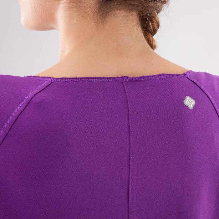 Yogashirt 100 met lange mouwen voor dames ECO paars - 1285222