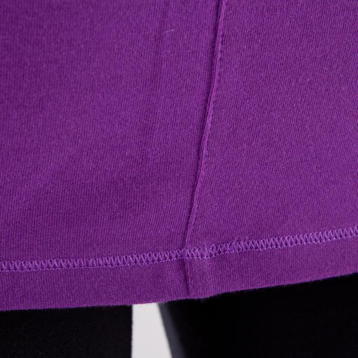 Yogashirt 100 met lange mouwen voor dames ECO paars - 1285224