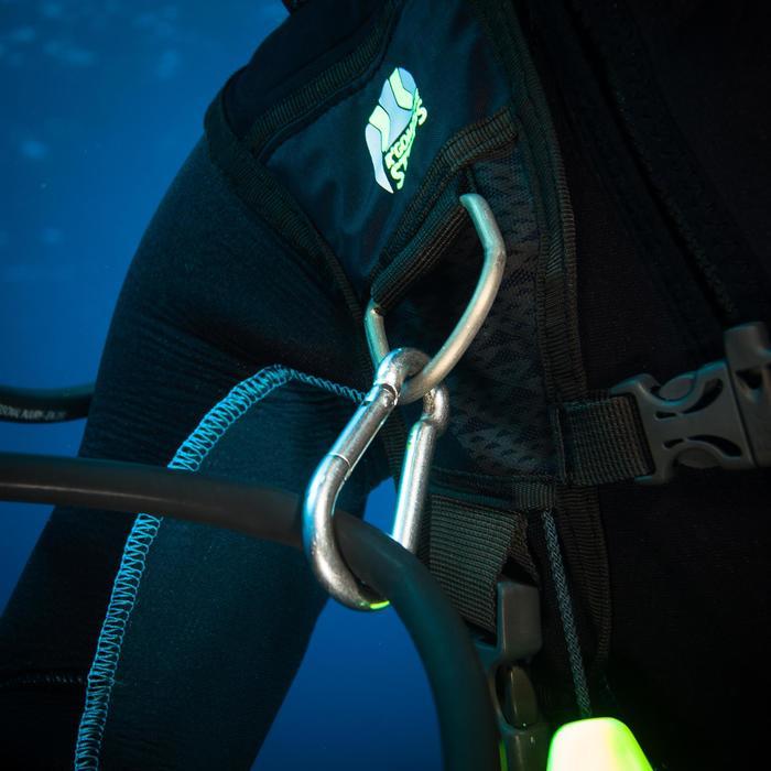Karabijnhaak SCD 70 mm zonder oog voor diepzeeduiken