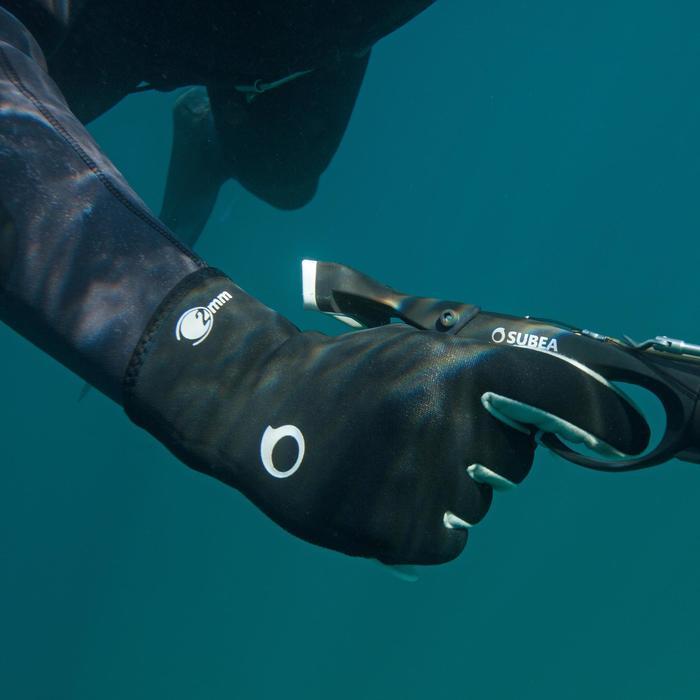 Gants de chasse sous-marine SPF 500 2 mm renforcés Supratex