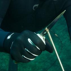 Couteau de chasse sous-marine SPF100 lame inox avec déragueur intégré