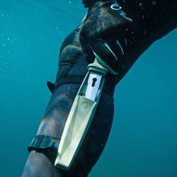 Duikmes voor harpoenvissen SPF100 rvs lemmet met geïntegreerde ontwarrer