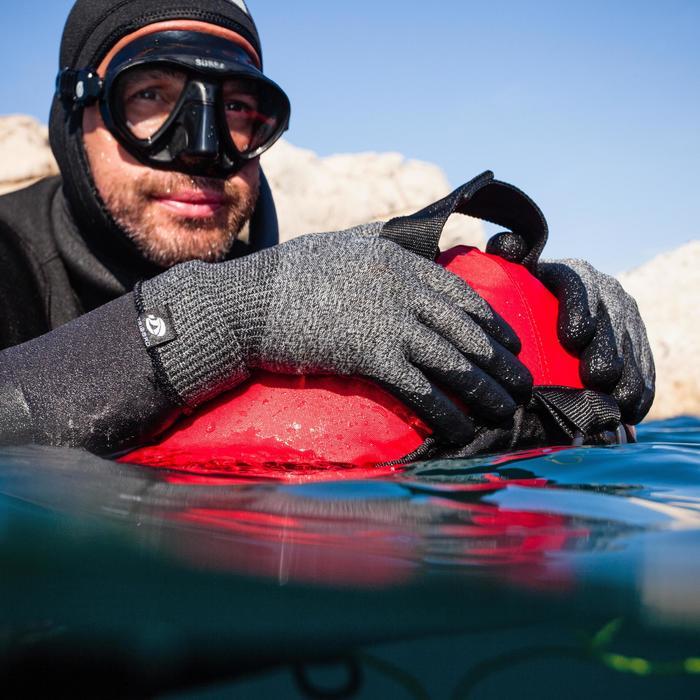 Textiel handschoenen met coating voor harpoenvissen SPF100 1 mm