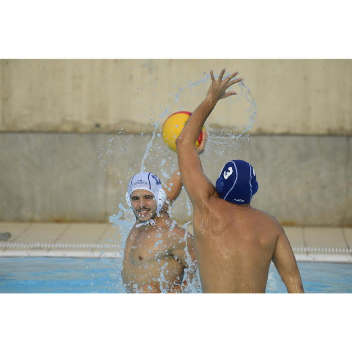 Bonnet water polo 500 adulte bleu