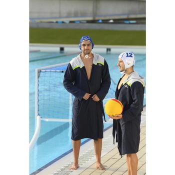 Bademantel Wasserball Herren blau/grau