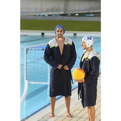 Heren badjas voor waterpolo Nabaiji blauw grijs