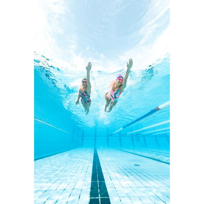 Maillot de bain de natation femme une pièce Riana owl bleu vert