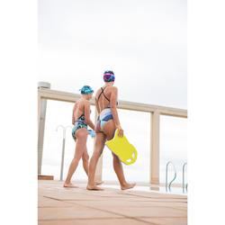 Grote zwemplank blauw/geel