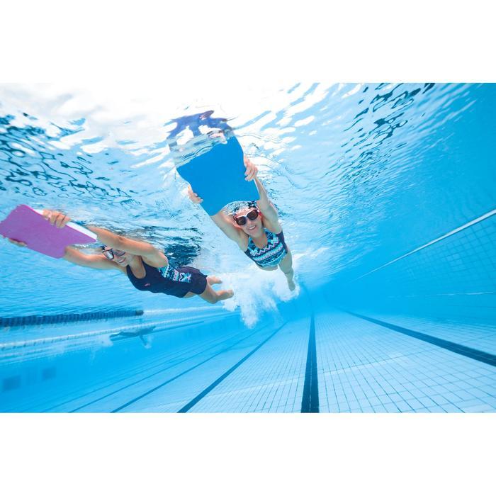 L號深色鏡片游泳面鏡500 Active Asia-黑藍色