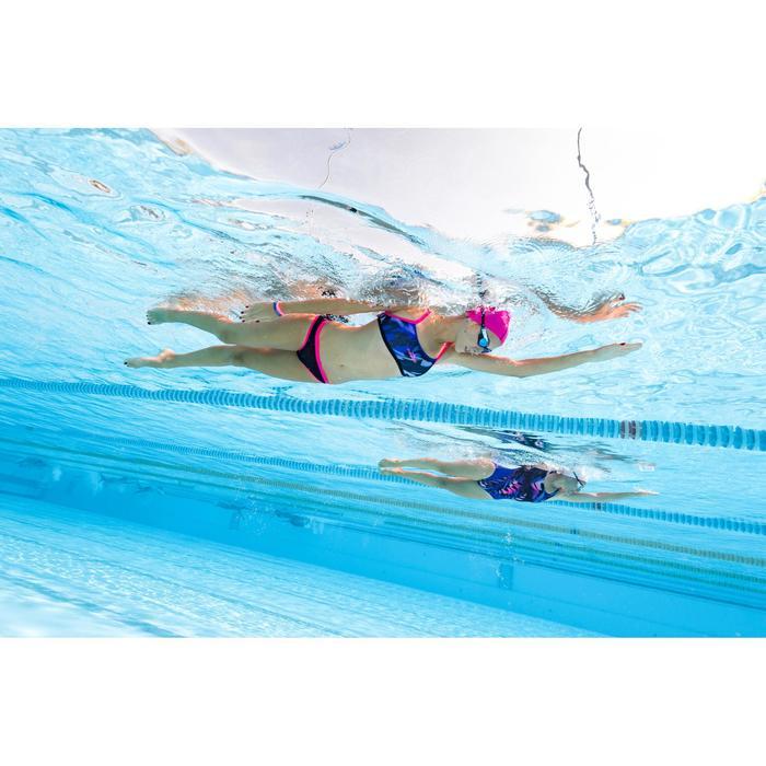 Maillot de bain de natation une pièce femme résistant au chlore Kamiye rose