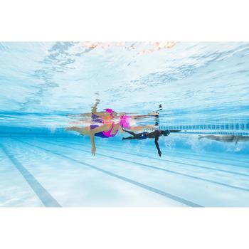 Maillot de bain de natation une pièce femme résistant chlore Leony Cut bleu rose