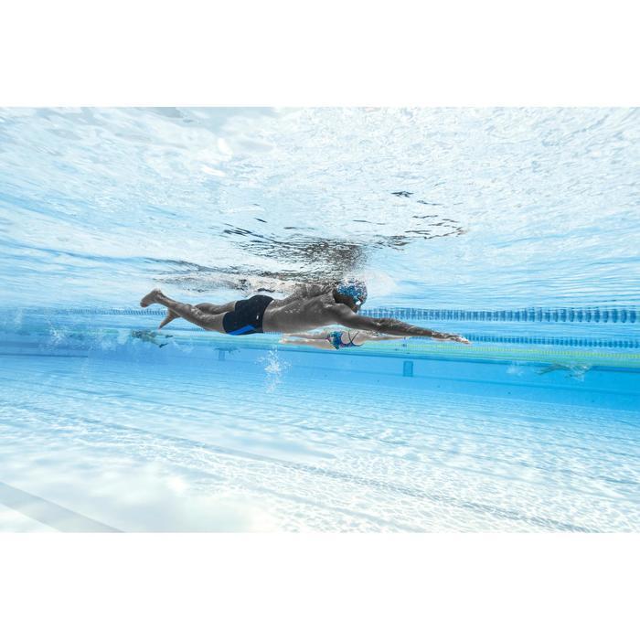 Lange zwemboxer heren 500 zwart/blauw