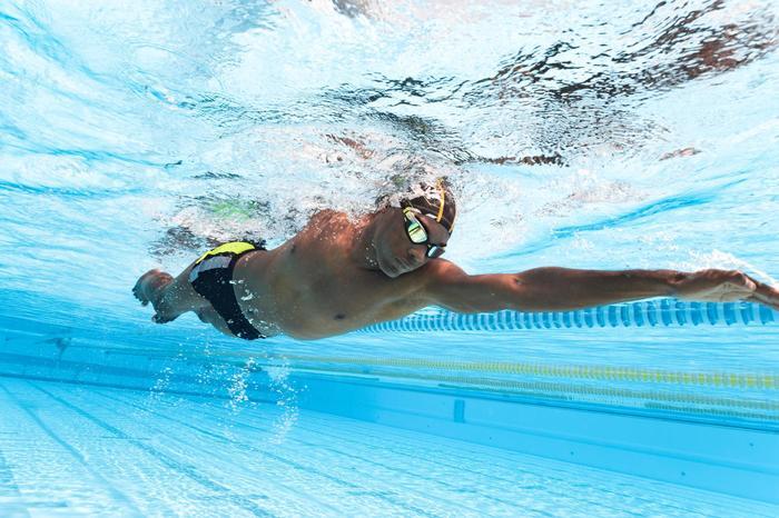 Bañador Natación Bóxer 500 Nabaiji Yoke Hombre Amarillo