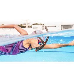 Frontale snorkel voor zwemmen 500 klein