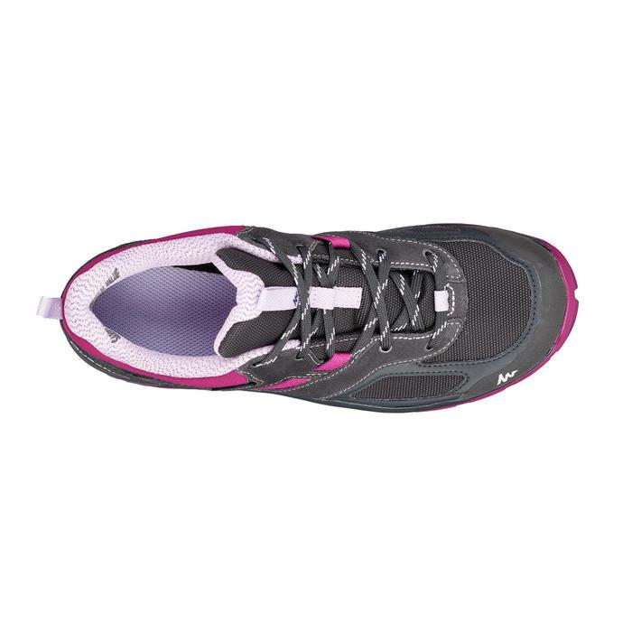 MH100 Women's Waterproof Mountain Hiking Shoes - Black/Purple