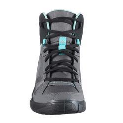 Wanderschuhe Naturwandern NH100 Mid Damen grau/blau