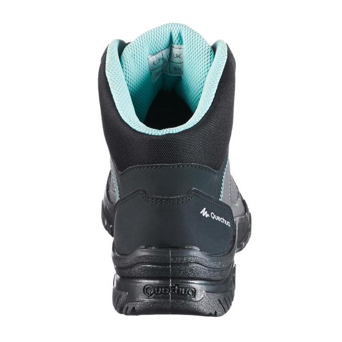 Giày cổ lửng leo núi thiên nhiên NH100 cho nữ - Xám/ xanh dương