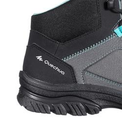 Botas de senderismo naturaleza NH100 mid gris azul mujer