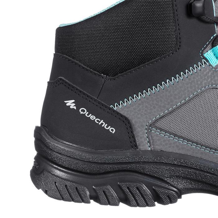 Chaussure de randonnée nature NH100 mid grise bleu femme