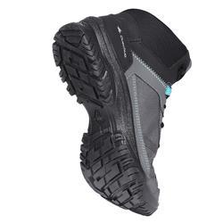 Schoenen voor wandelen in de natuur NH100 mid grijs blauw dames
