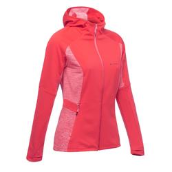 Fleece damesvest voor fast hiking FH500 Helium