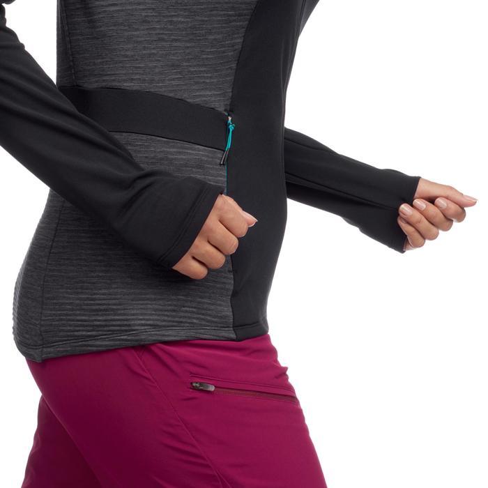 Veste Polaire de randonnée rapide Femme FH500 Noir