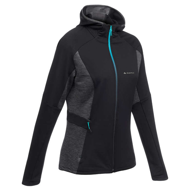 WOMEN MOUNT HIKING FLEECES Hiking - Women's Fleece Jacket FH500 QUECHUA - Hiking Clothes