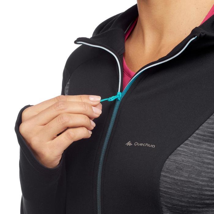 Fleece damesvest voor speed hiking FH500 zwart