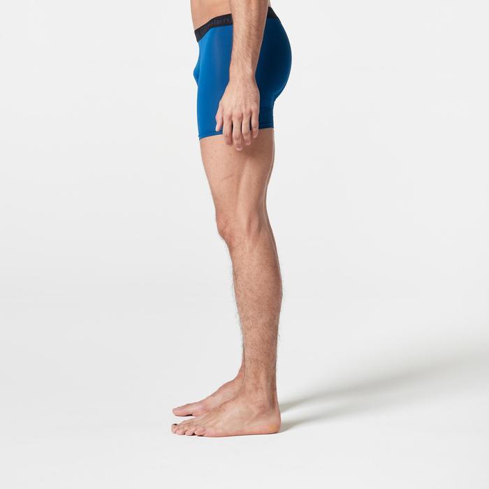 Ademende boxershort voor hardlopen heren Pruisisch blauw