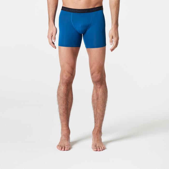 男款跑步透氣四角褲普魯士藍