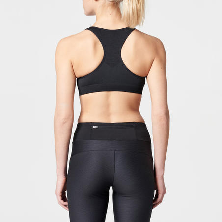 FIRST CLASSIC RUNNING CROP TOP - BLACK