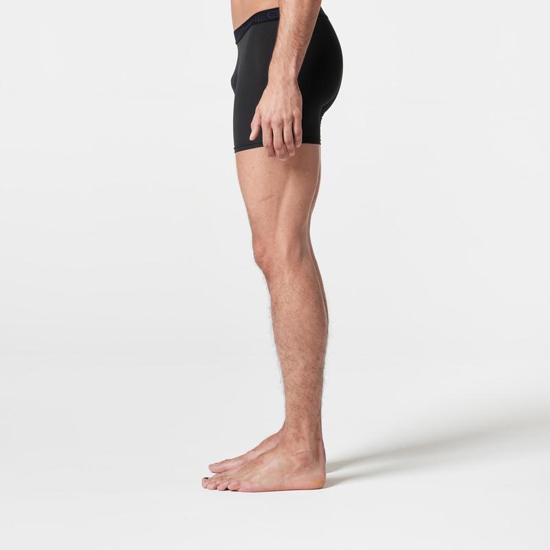 กางเกงบ็อกเซอร์แบบระบายอากาศได้สำหรับนักวิ่งชาย (สีดำ)