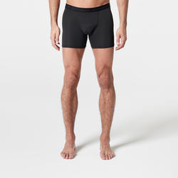MEN'S BREATHABLE RUNNING BOXER BRIEFS - BLACK