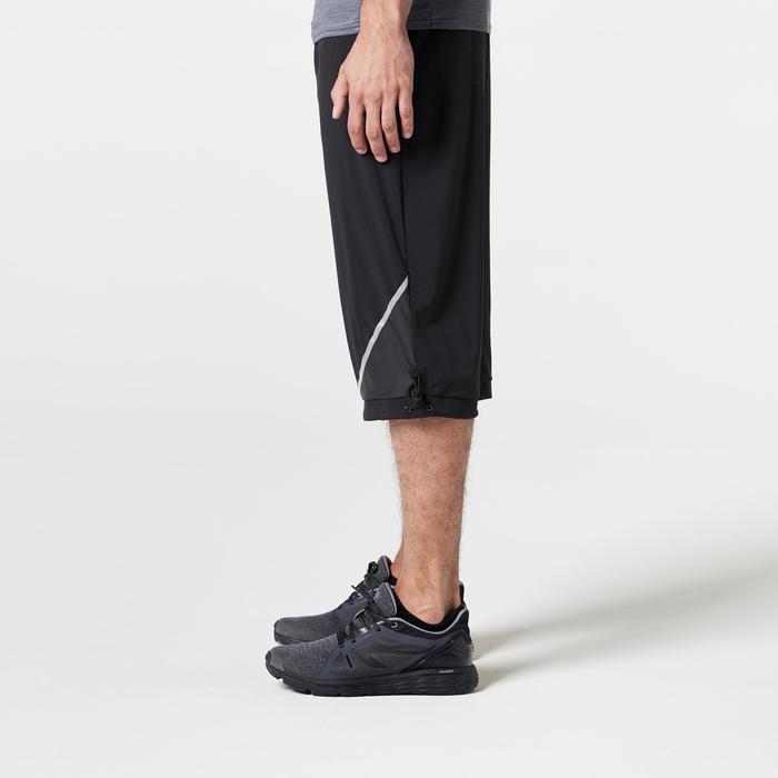 Driekwartbroek hardlopen voor heren Run Dry+ zwart