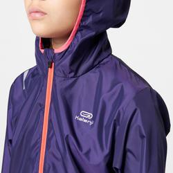 Coupe vent athlétisme enfant wind violet nuit rose fluo