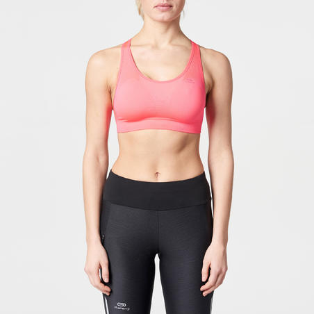 FIRST CLASSIC RUNNING CROP TOP - NEON PINK