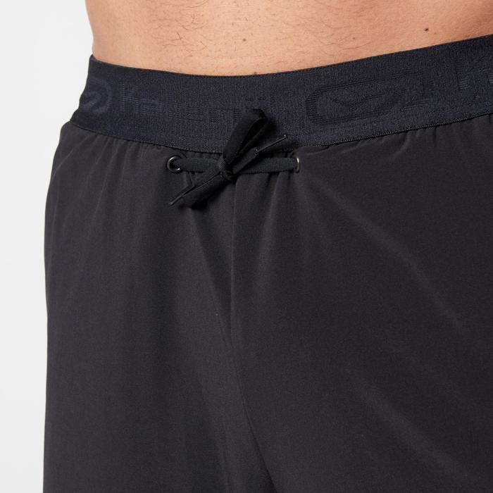 Driekwart loopbroek Run Dry+ voor heren zwart