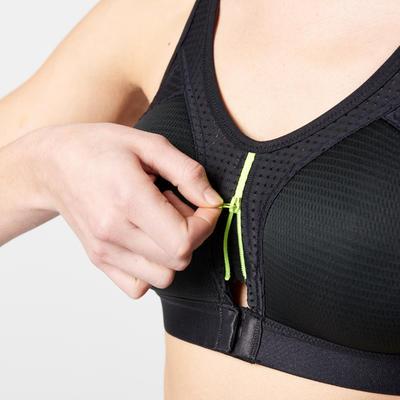 توب قصير Power Zip – لون أسود