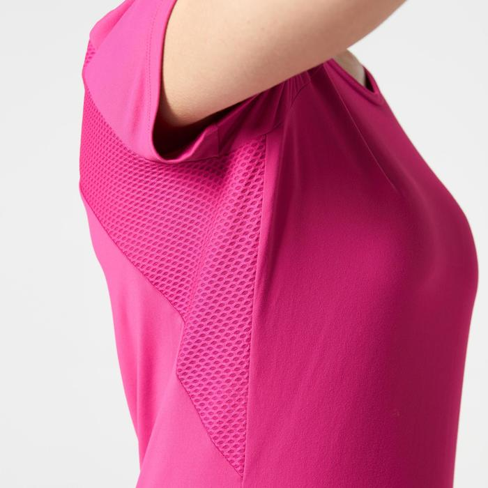 T-shirt korte mouwen jogging dames Run Dry+ roze