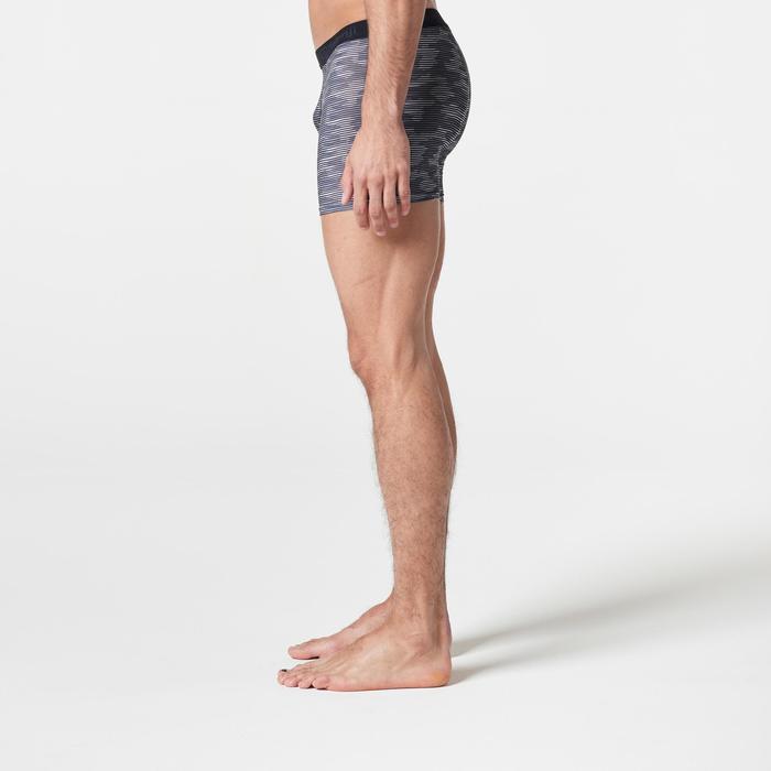 Funktionsunterhose Lauf-Boxershorts atmungsaktiv Herren grau/Tarnmuster