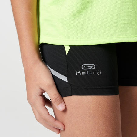 girl sprinter jr running short tight blk