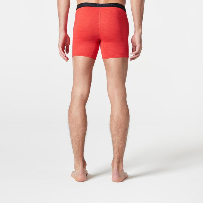 Funktionsunterhose Lauf-Boxershorts atmungsaktiv Herren rot meliert