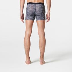 Men's Breathable Running Boxers Camo Grey