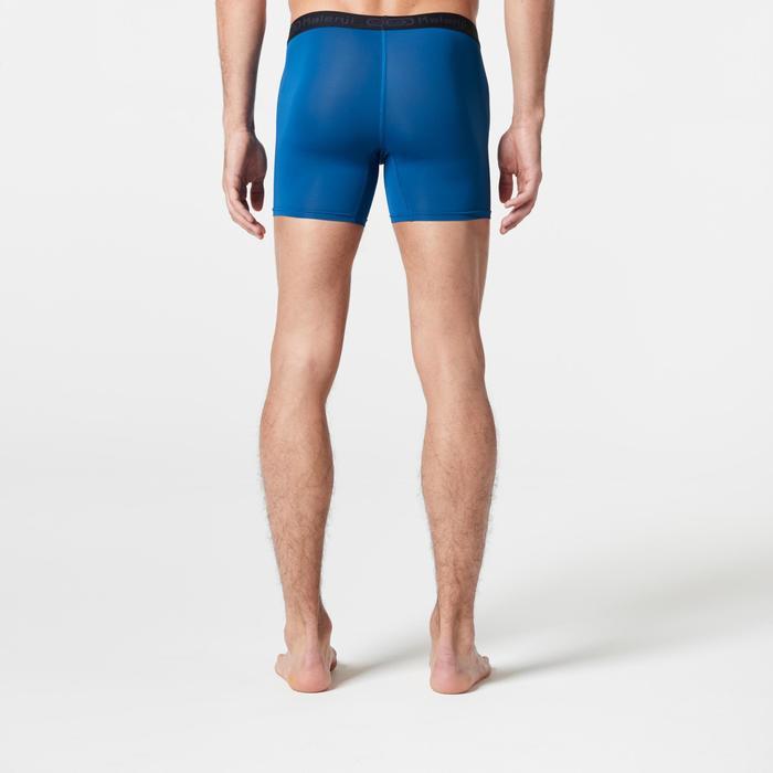 男款透氣跑步四角褲 - 普魯士藍