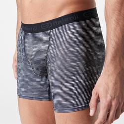 Men's Breathable Running Boxers Camo Grey