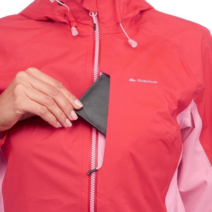 Veste imperméable de randonnée rapide Femme FH500 Helium Rain Rouge - 1285868