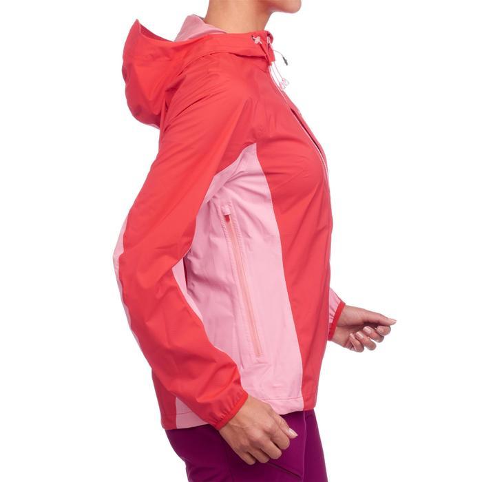 Veste imperméable de randonnée rapide Femme FH500 Helium Rain Rouge - 1285870